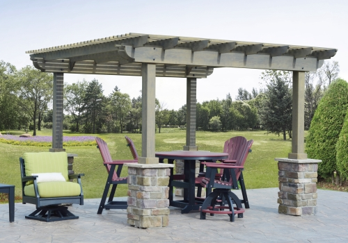 PERGOLAS - Click on the picture to view a selection of wood and vinyl Pergolas.