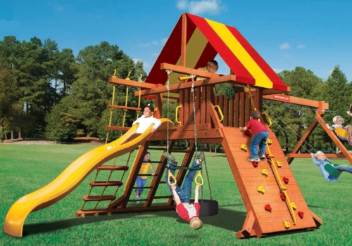 PLAYSETS - Customizable redwood and cedar playsets for kids of all ages. Click on the picture for more information about the Woodplay playsets.