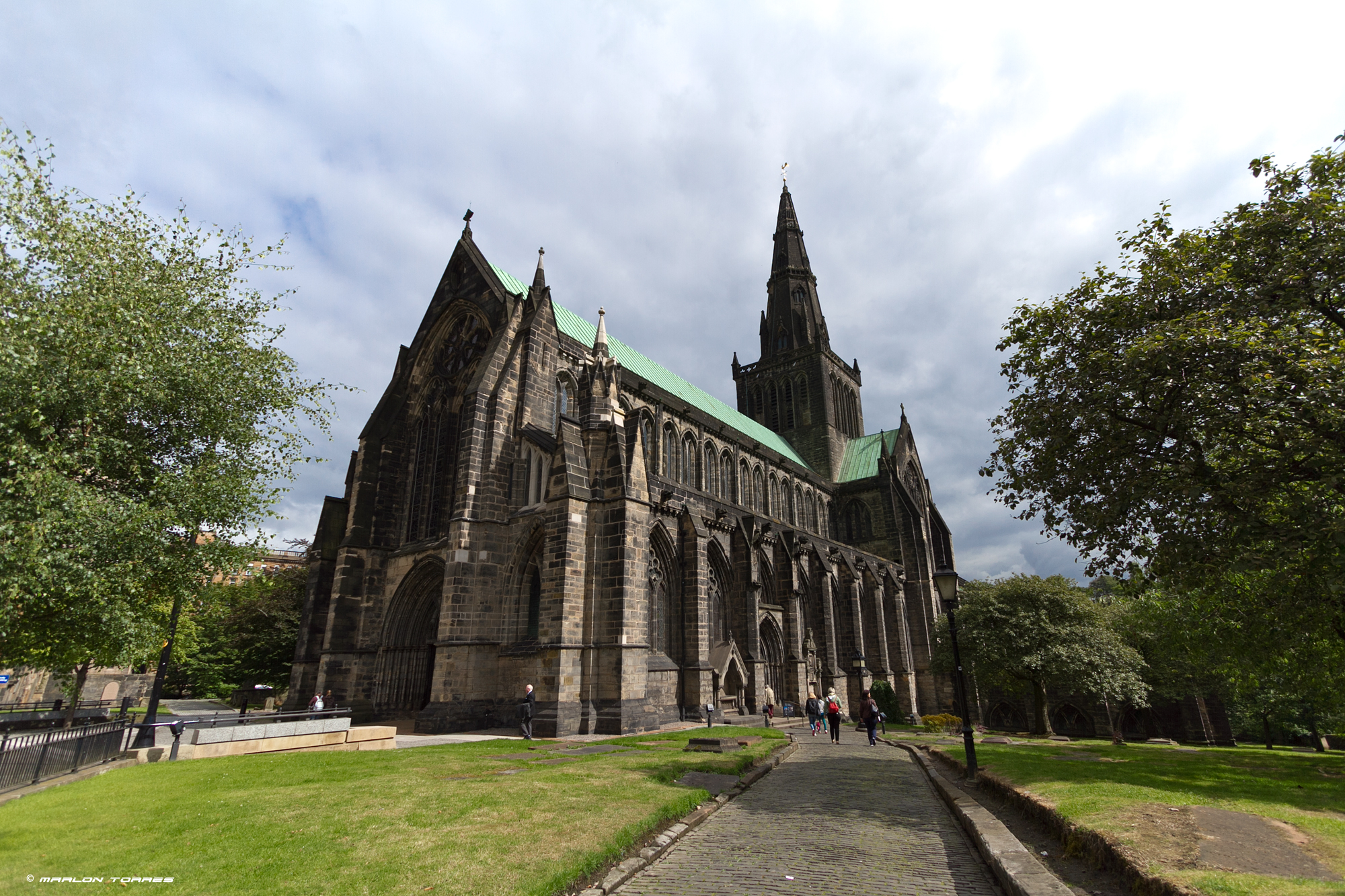The Glasgow Cathedral.