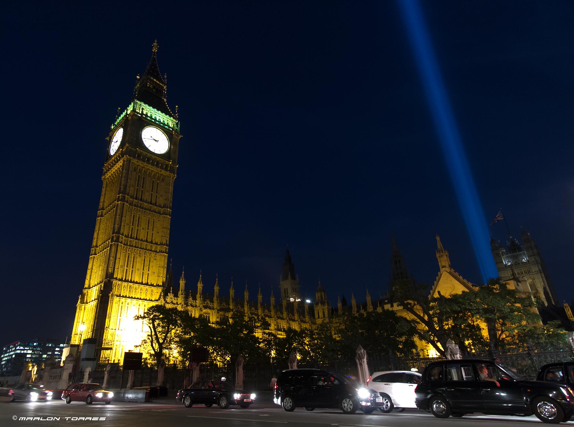 Big Ben at night. Photo: Marlon Torres