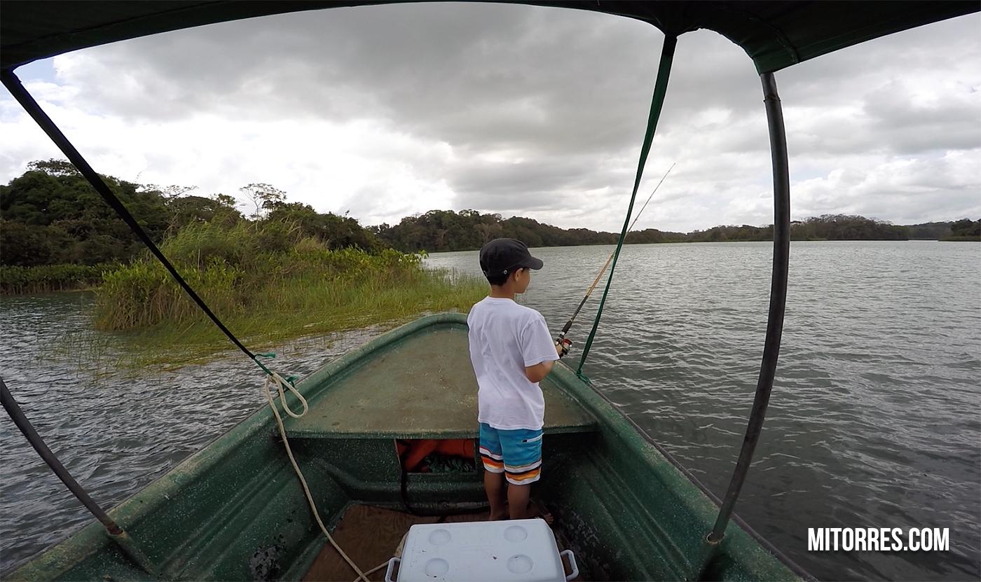 Fishing in Gatun Lake, Panama.