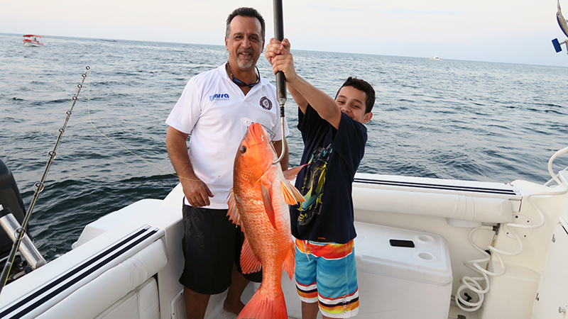Hooked Red Snapper