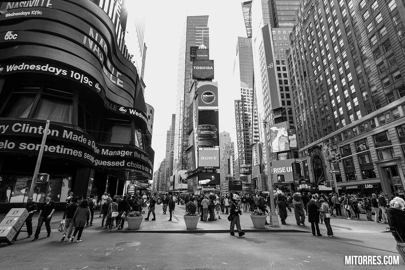Times Square in New York City.