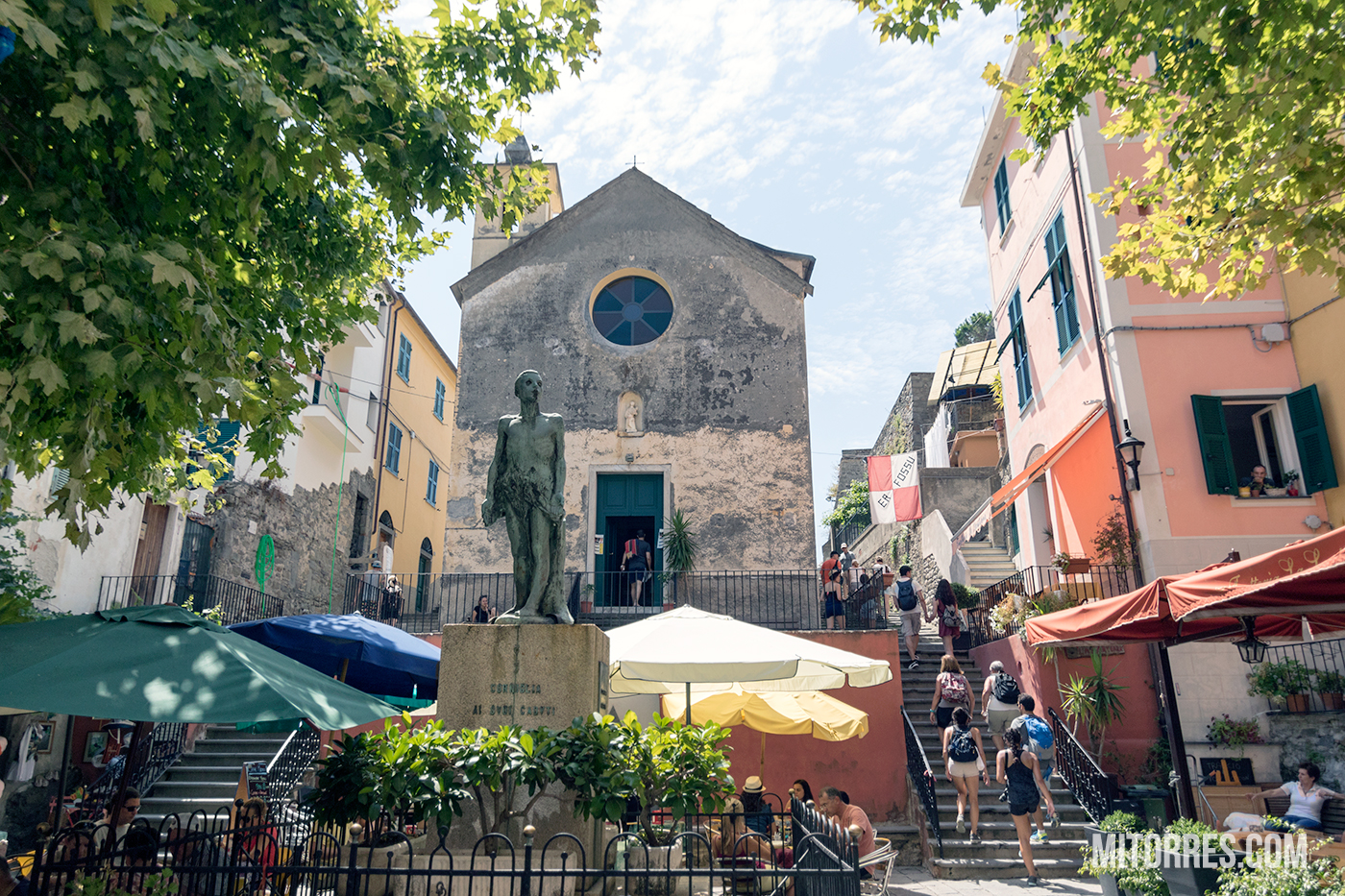 Largo Taragio Square in Corniglia, Cinque Terre. Photo: Marlon I. Torres