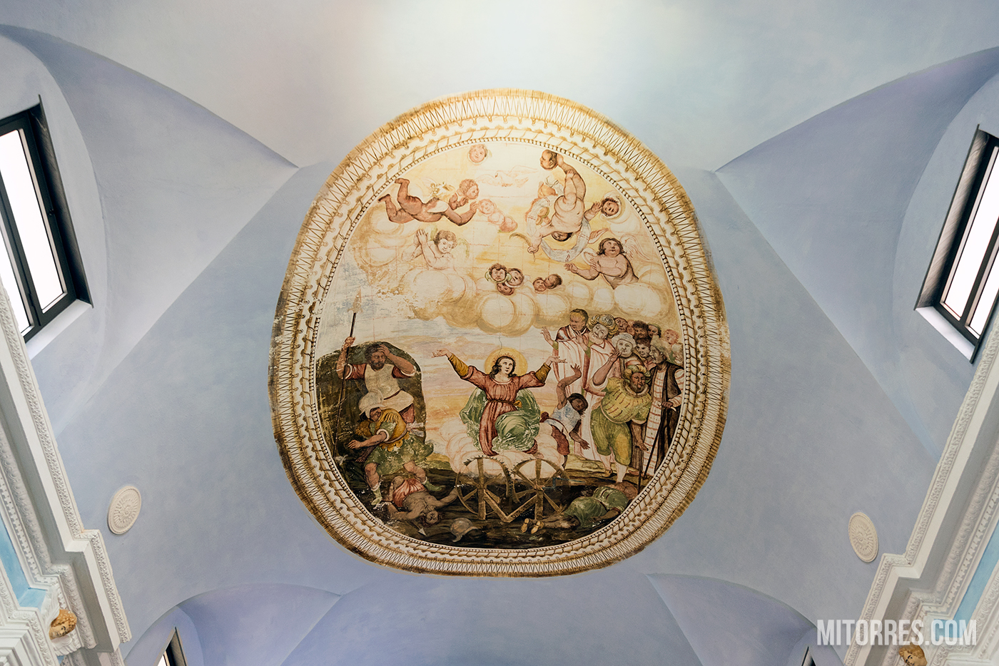 Ceiling inside the Oratory of the Disciplinati of Santa Caterina