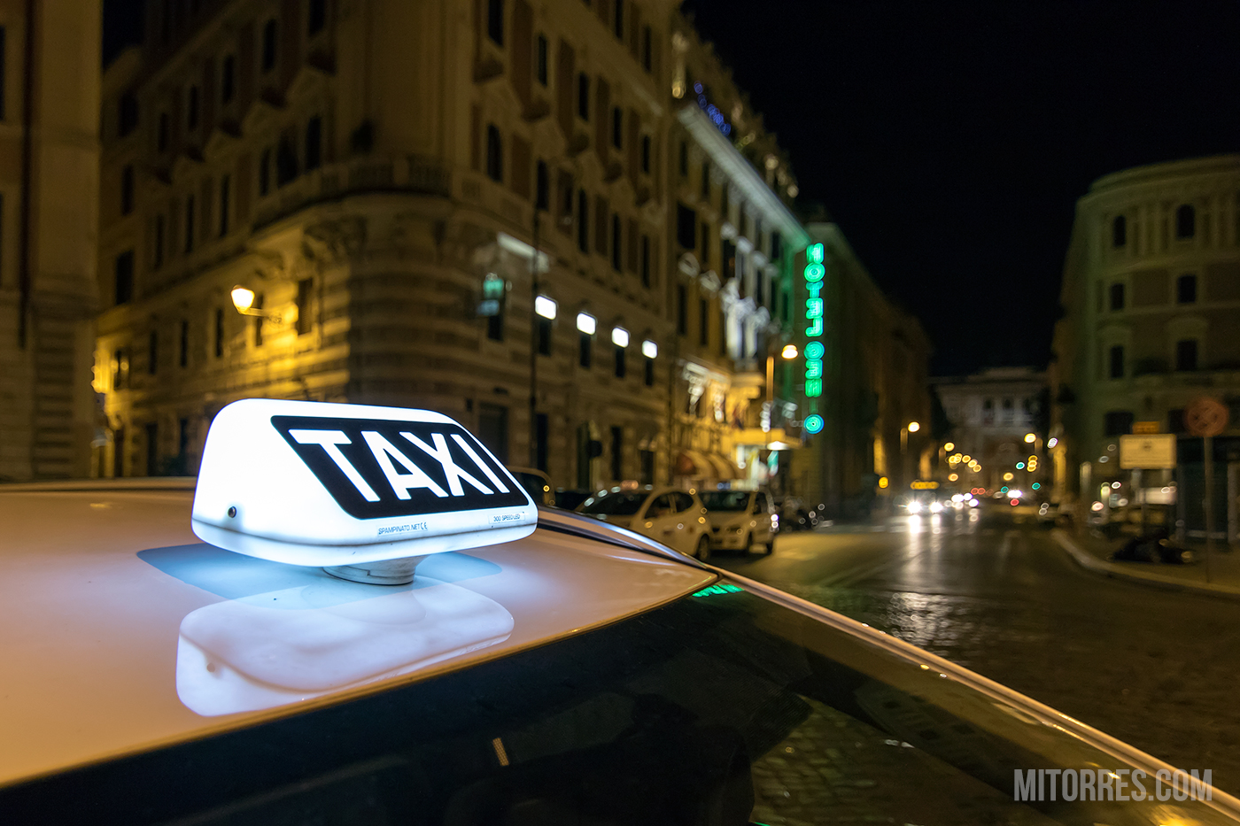 Taxi in Rome. Photo: Marlon I. Torres