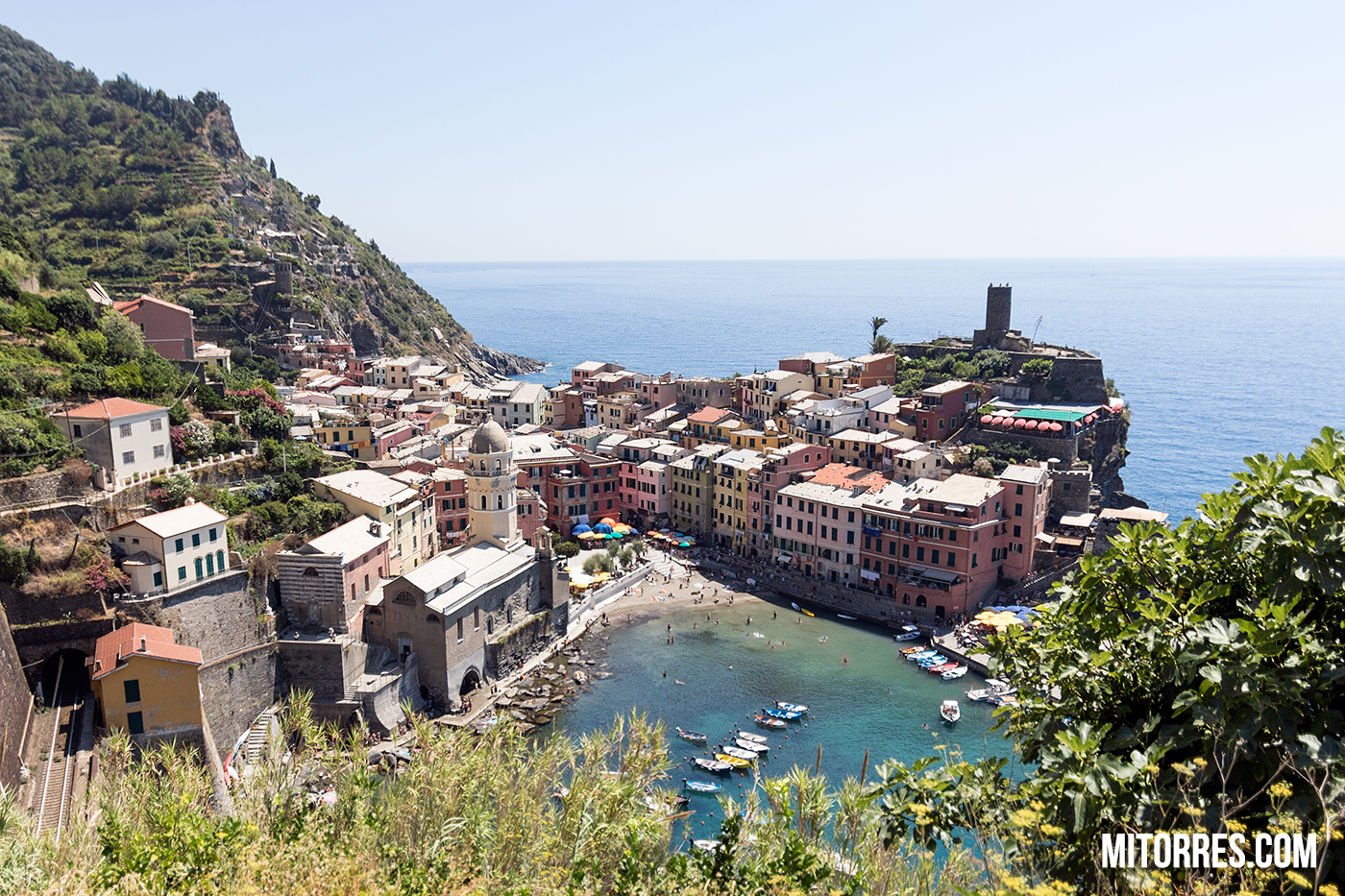 View of Vernazza, Cinque Terre, Italy.  Photo: Marlon I. Torres