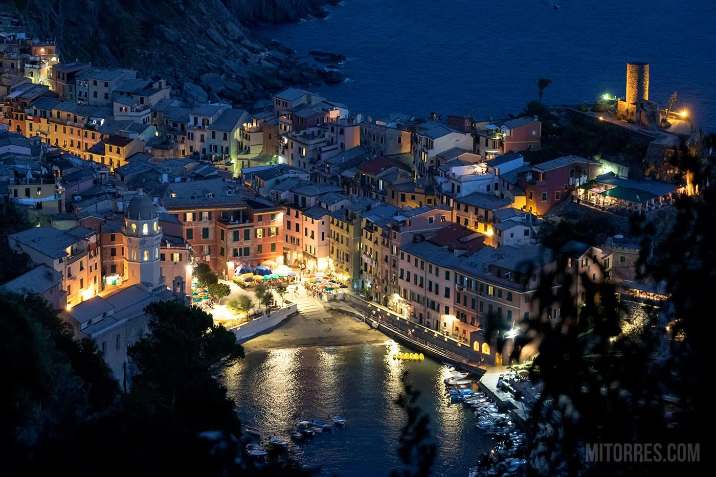 Night shot of Vernazza, Cinque Terre, Italy. Photo: Marlon I. Torres