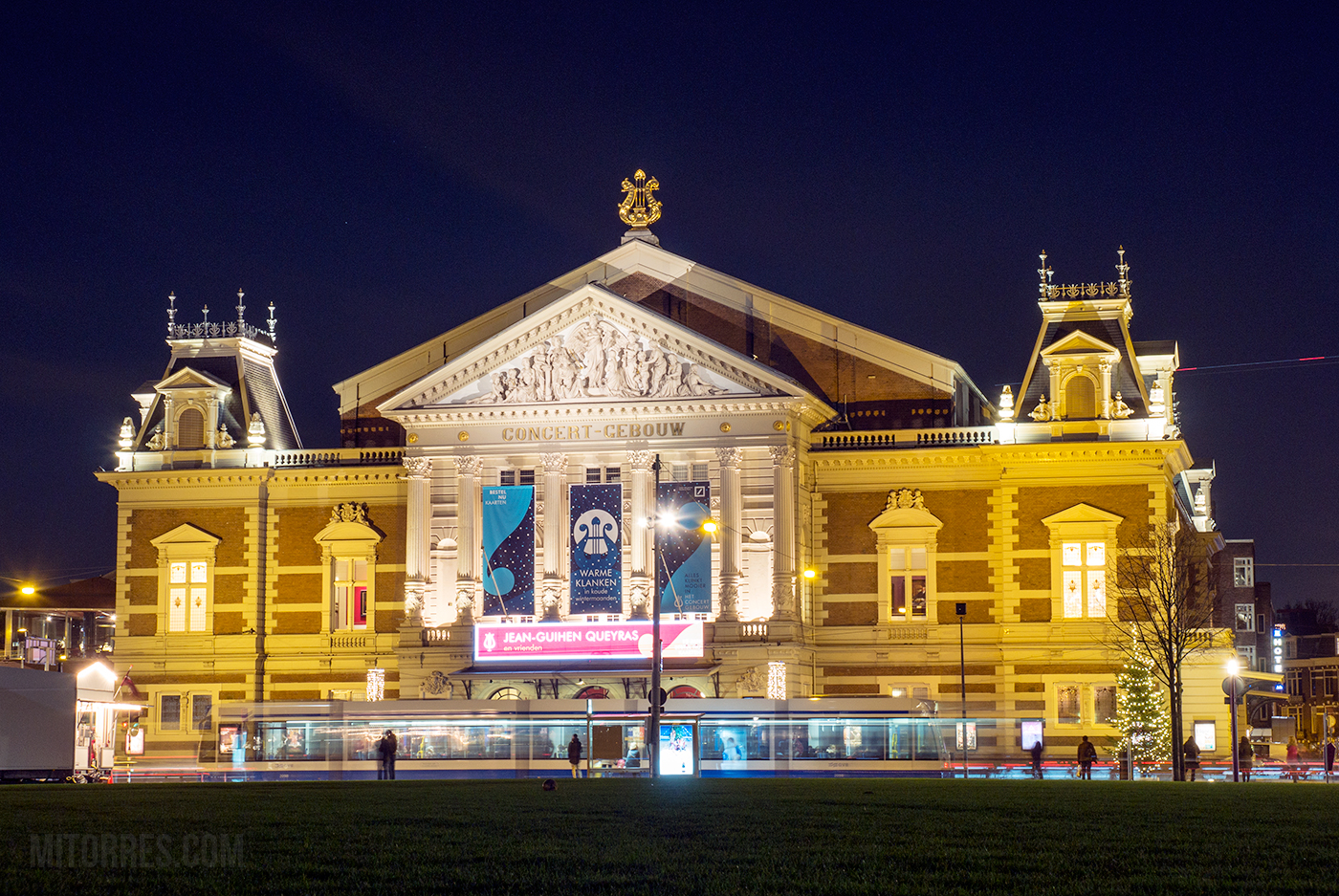 The Royal Concertgebouw concert hall in Amsterdam, Netherlands.
