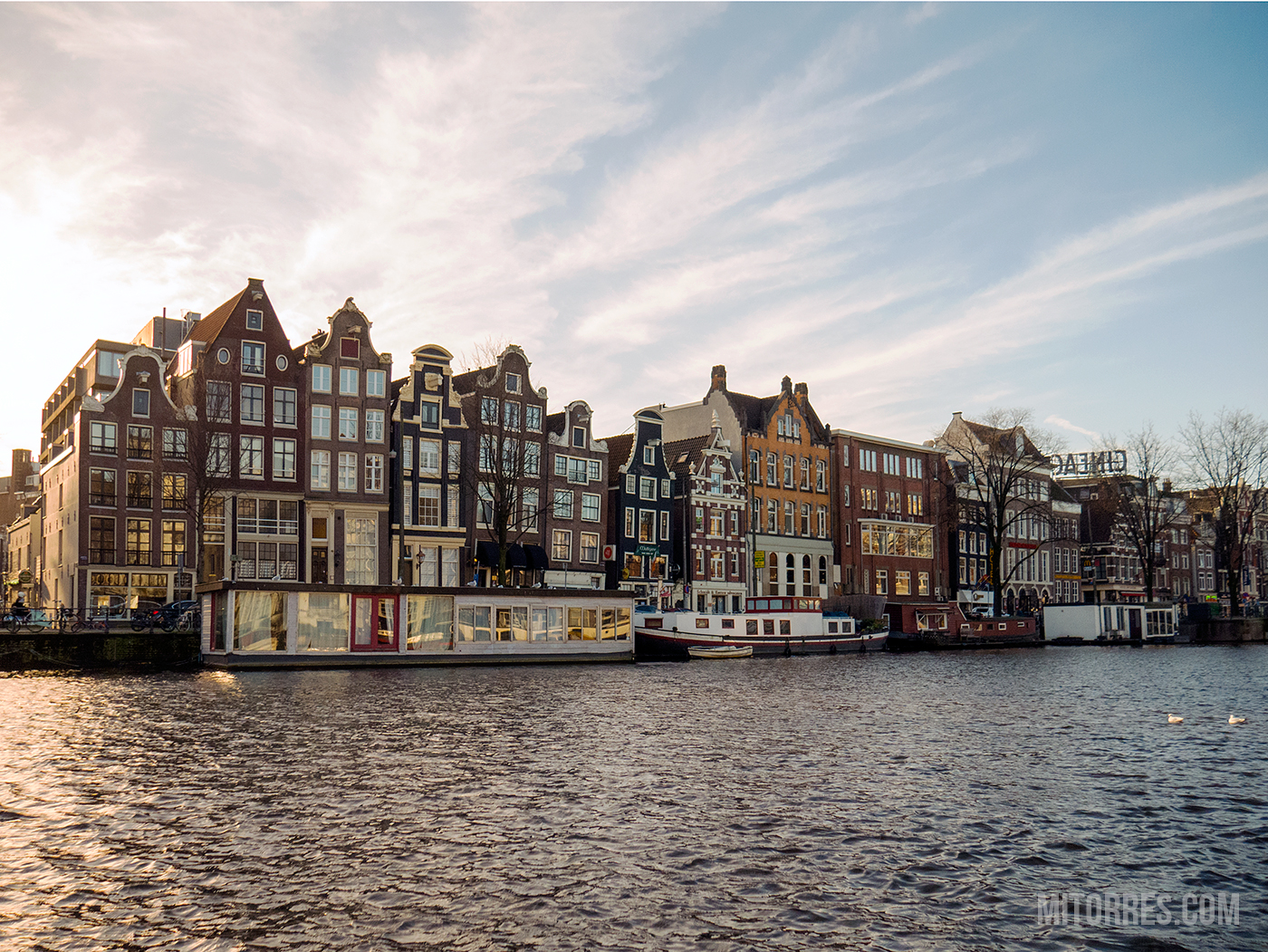 The Dancing Houses on Amsterdam.