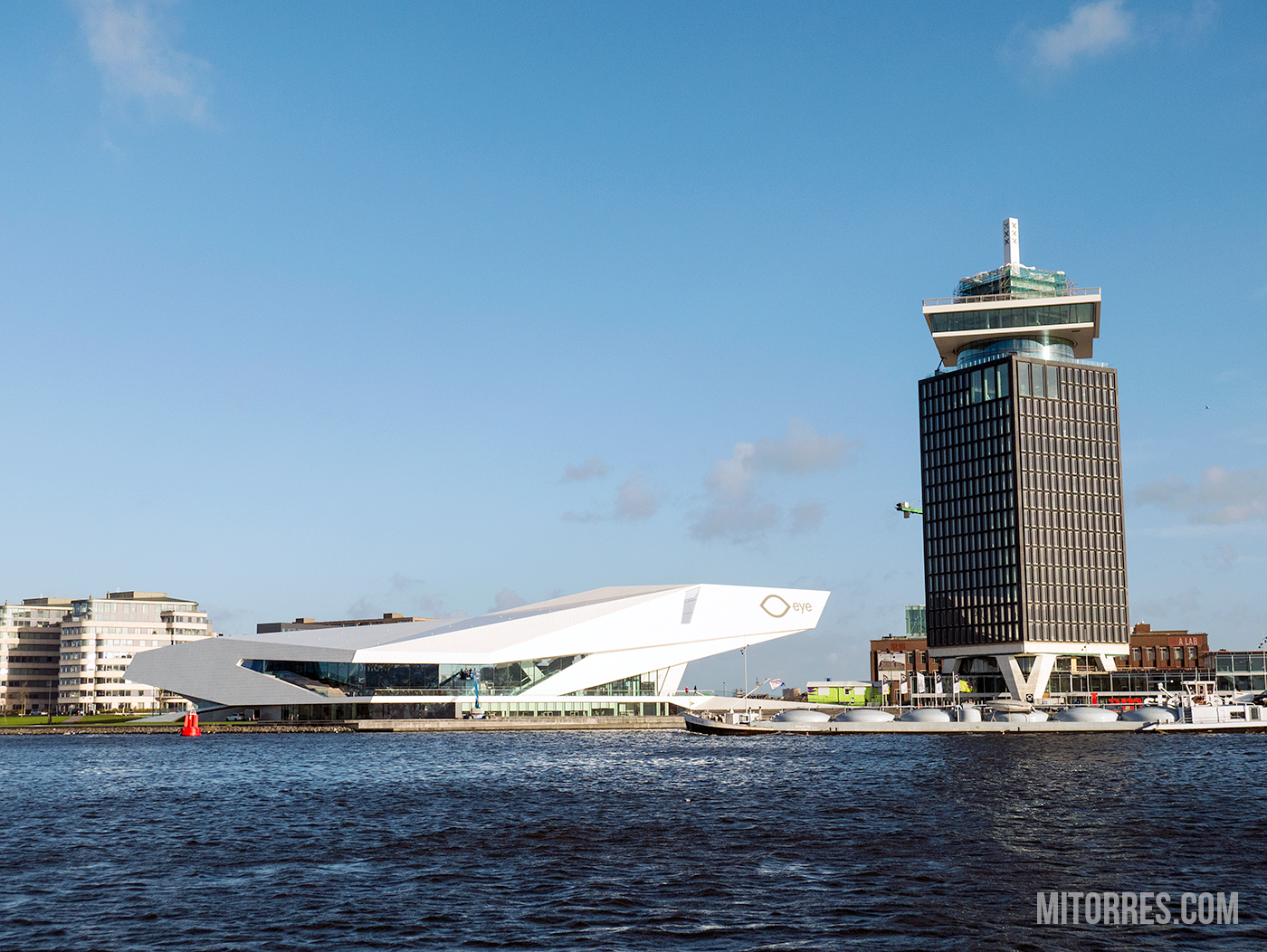 A view of the EYE Film Institute Netherlands.