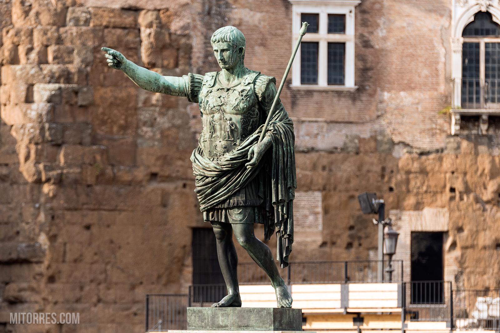 Caesar Octavian Augustus Statue in Rome, Italy.
