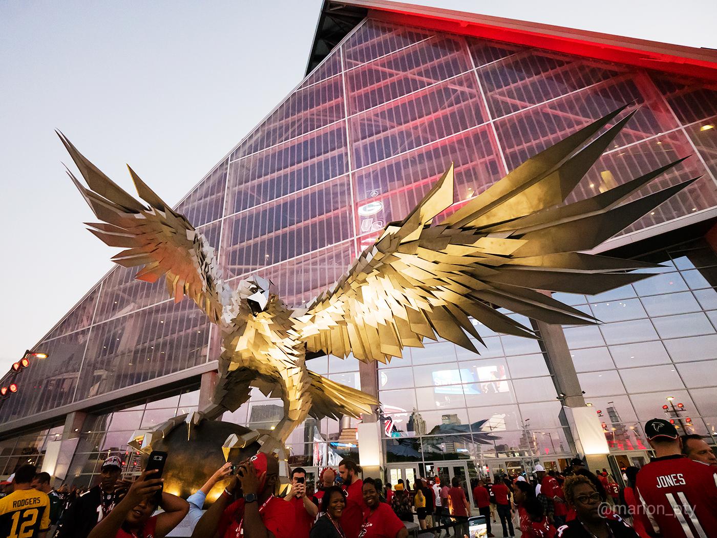 The Falcon statue