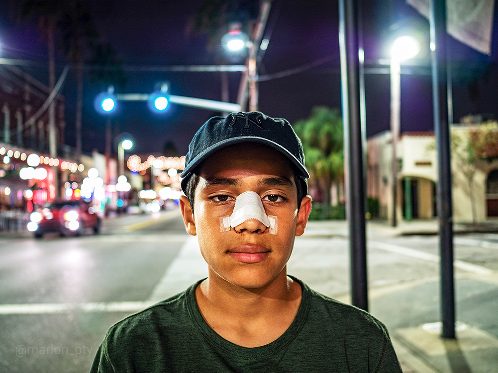 A portrait of my son in Ybor City.