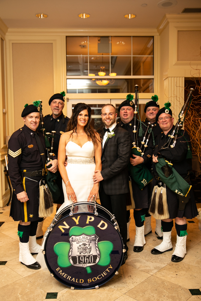 Any other special stories or details? - We surprised our guests with the NYPD bagpipers!