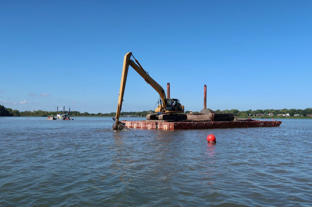 Heavy civil construction, Braddock Bay, dredging, navigation channel, New York, Seaway Marine Group, The Wesson Group