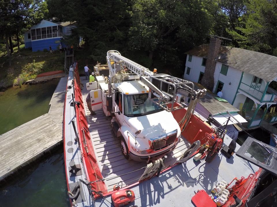 marine transportation, utility connections, service calls, National Grid, Seaway Marine Group, tug, barge
