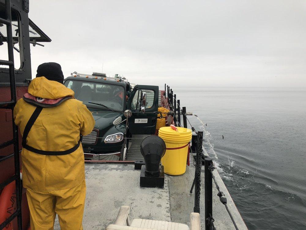 Marine transportation, fish stocking, Lake Ontario, Department of Environmental Conservation, Seaway Marine Group