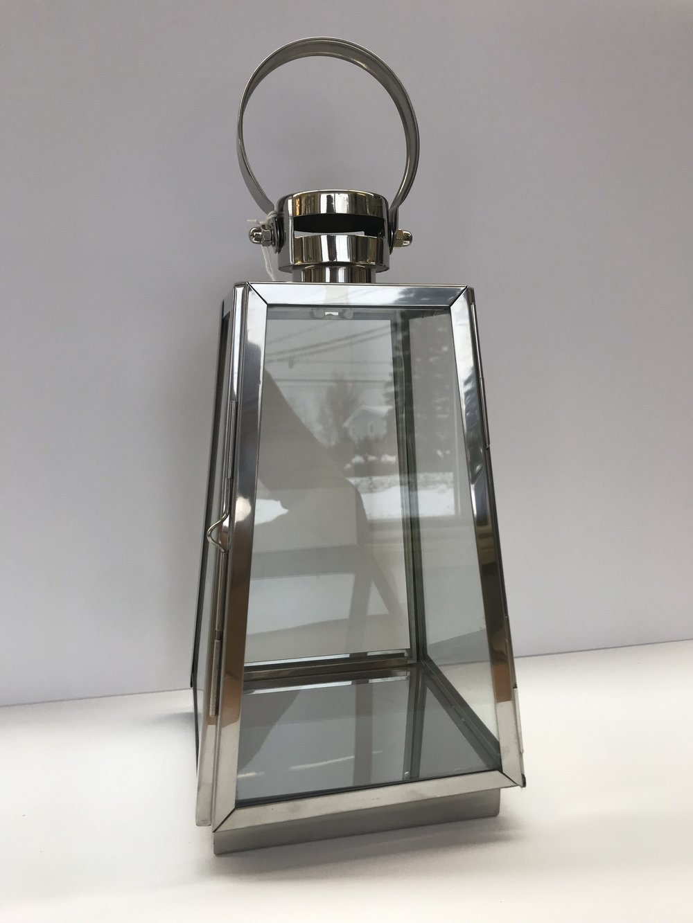 Stainless Steel Lantern - Colour:  Stainless SteelDimensions:  16