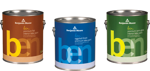 ben Interior Paint - ben Interior is user-friendly paint for flawless results and puts premium color within reach.Available in thousands of colours.Available in Flat, Eggshell, Pearl and Semi-Gloss finishes. Note: Flat finish is special order at our location.Available in quart or gallon sizes.Quart Price: $26.99 + HSTGallon Price: $58.99 + HST