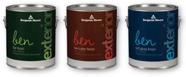 ben Exterior Paint - ben Exterior is user-friendly paint for flawless results and beautiful transformations.Available in thousands of colours.Available in Flat, Low Lustre and Soft Gloss finishes.Note: Flat finish is special order at our location.Available in quart or gallon sizes.Quart Price: $27.99 + HSTGallon Price: $63.99 + HST