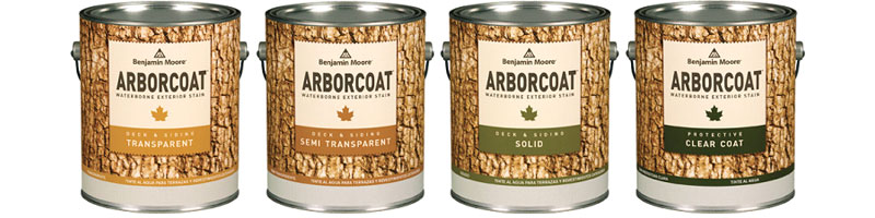 Arborcoat Exterior Stain - ARBORCOAT stains offer superior protection while enhancing the texture and grain of wood surfaces.  Available in thousands of colours.Available in Clear Coat, Translucent, Semi-Transparent, Semi-Solid and Solid Finishes.Available in Oil or Water based applications. Available in gallon size.Pricing as follows: Oil Primer - $55.99 + HST (Gallon) Oil Translucent - $62.99 + HST (Gallon)Oil Semi-Transparent - $63.99 + HST (Gallon)Protective Clear Coat - $66.99 + HST (Gallon) Translucent - $62.99 + HST (Gallon) Semi-Transparent - $66.99 + HST (Gallon) Semi-Solid - $68.99 + HST (Gallon) Solid - $68.99 + HST (Gallon)