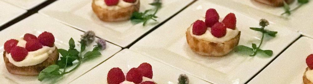 Meyer lemon honey tart with salted shortbread crust, fresh berries