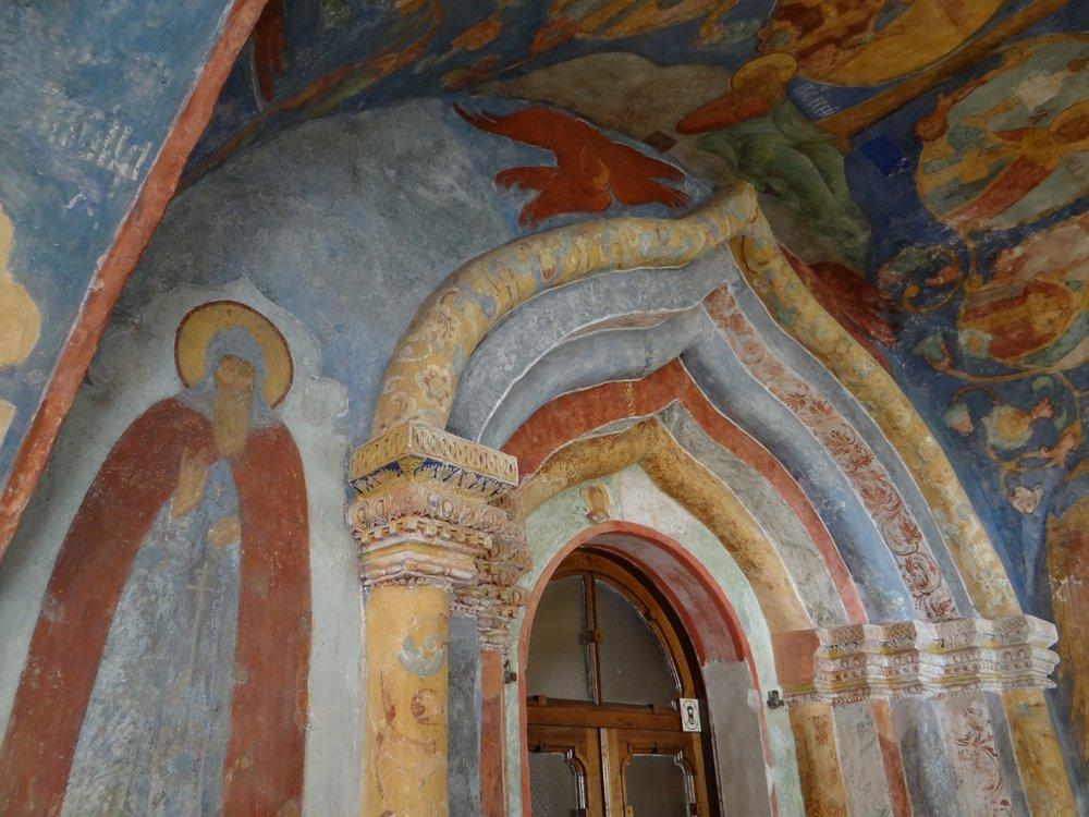 frescoes art monastery Saint Euthymius.JPG