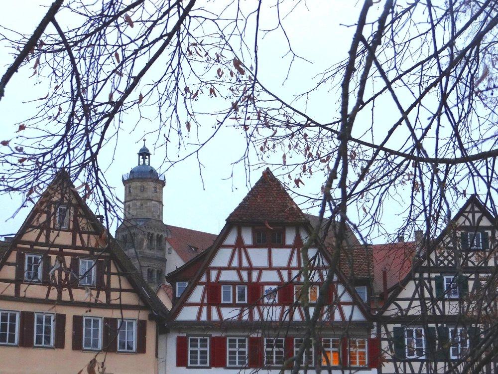 Timber-framed houses are all over Schwäbisch Hall