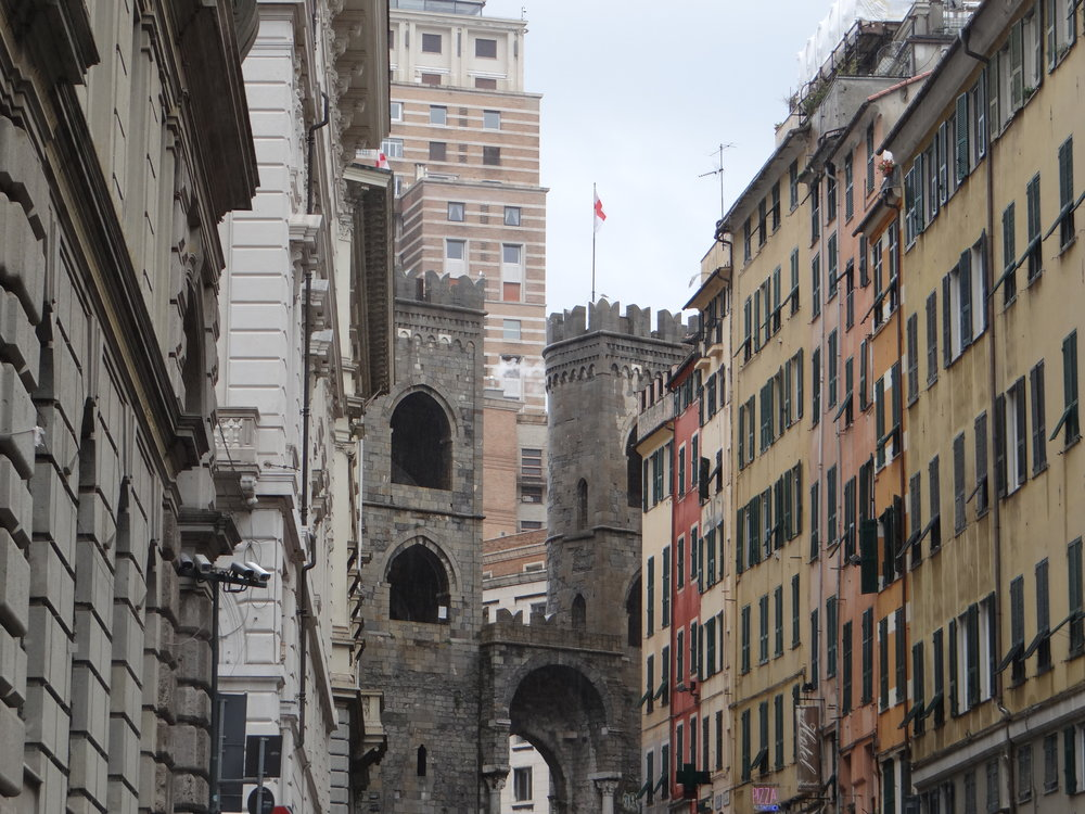 The walls of Old Genoa