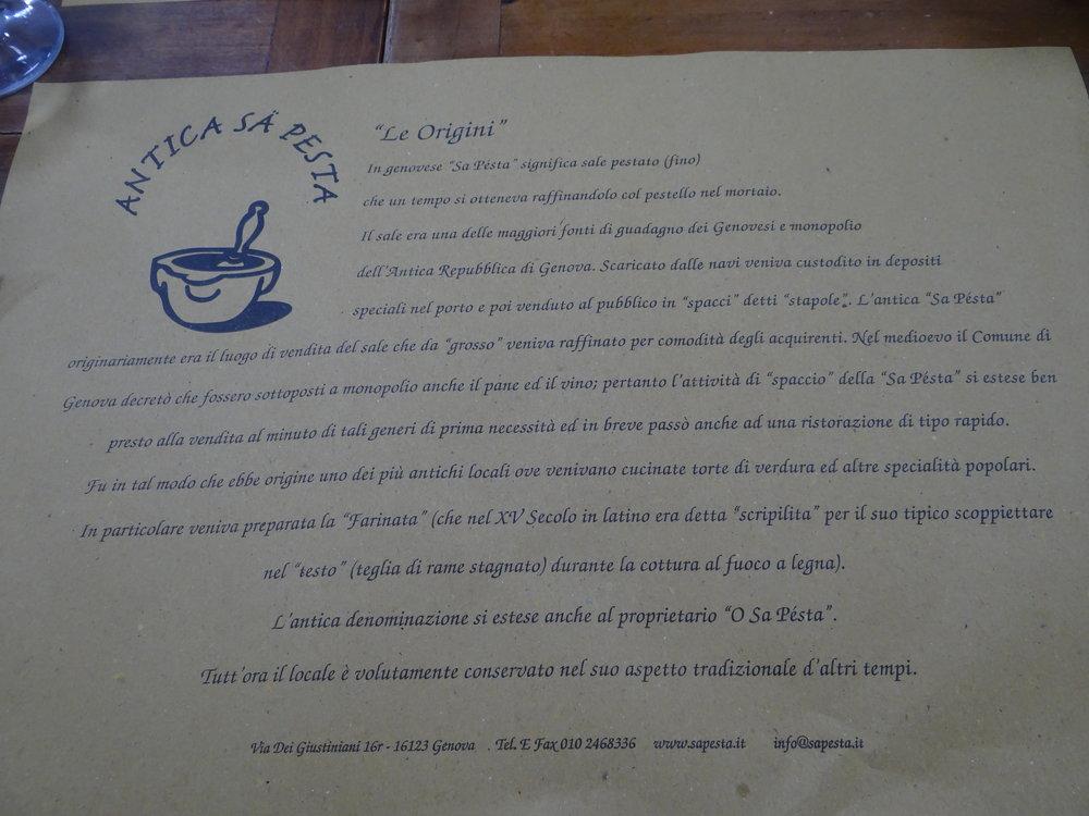 restaurant antica sa pesta genoa.JPG
