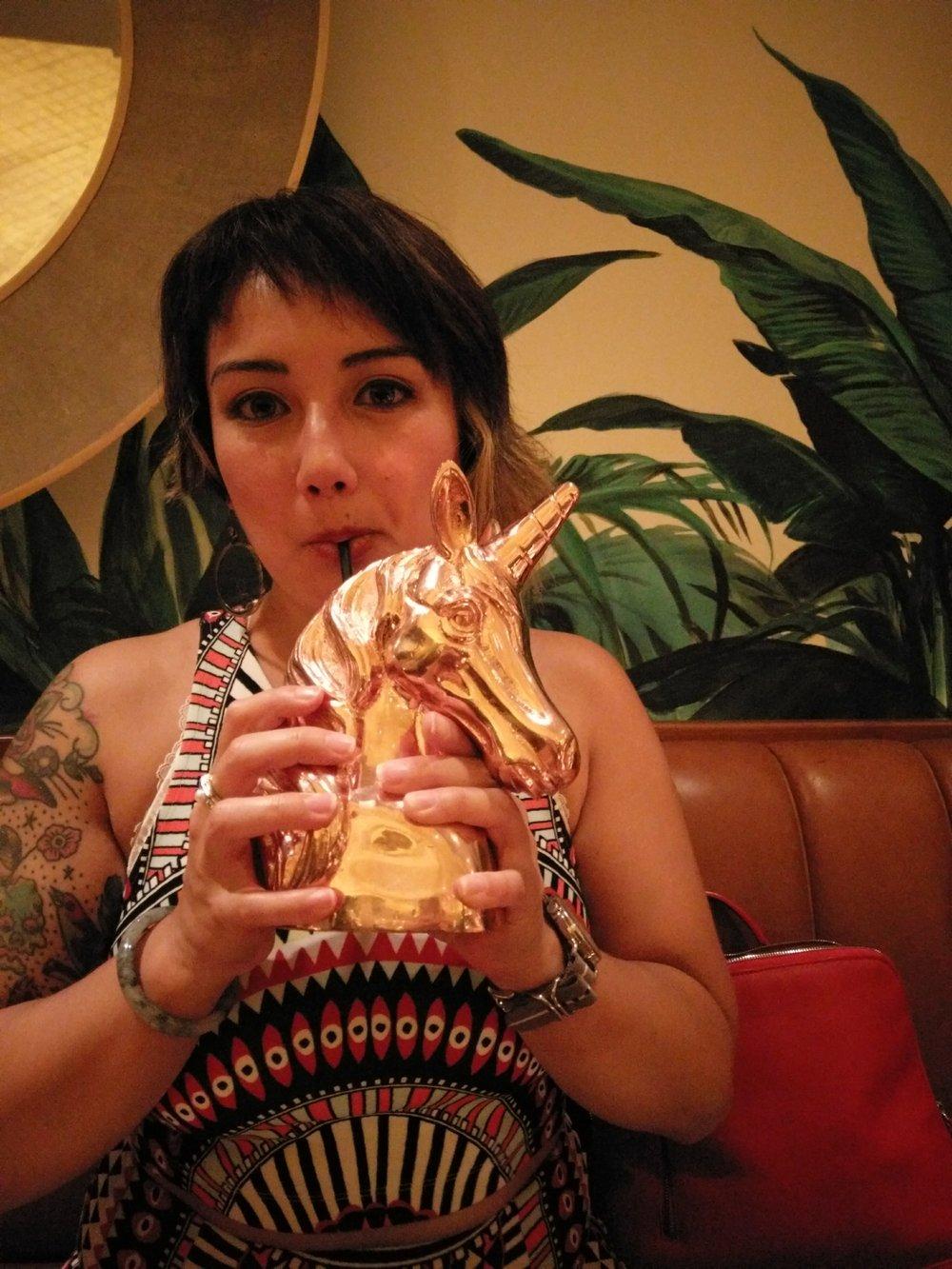 Katie Naka - I drink your unicorn. I drink it up.