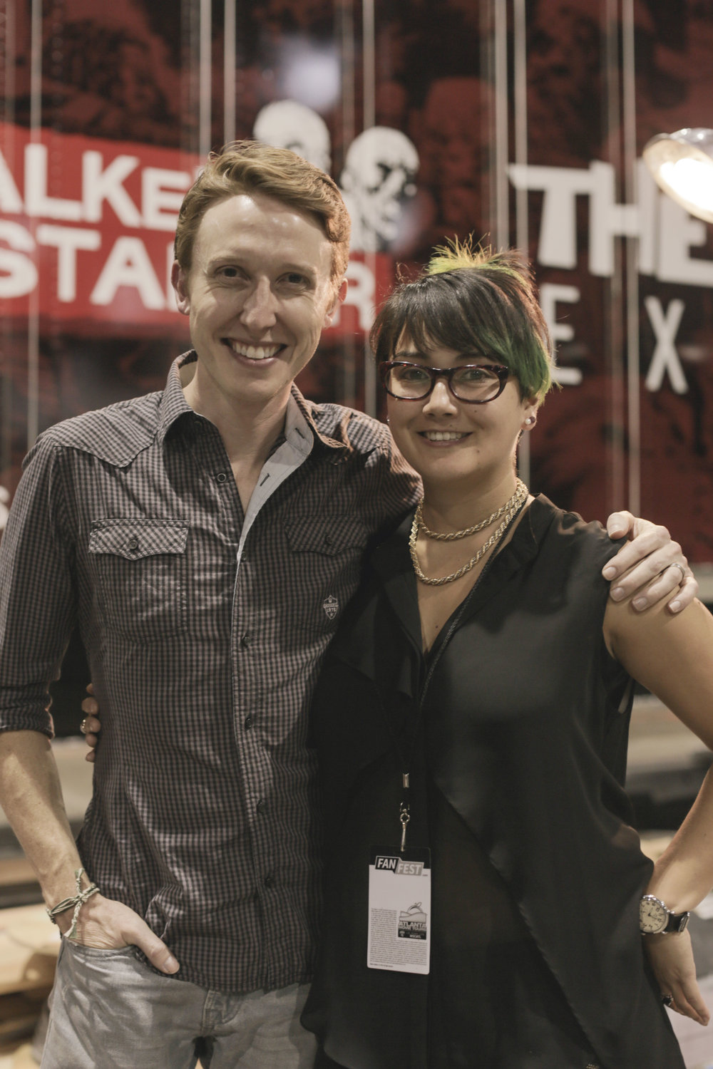 The Walking Dead Experience - Jordan Woods Robinson and I had previously worked together for Blue Man Group.