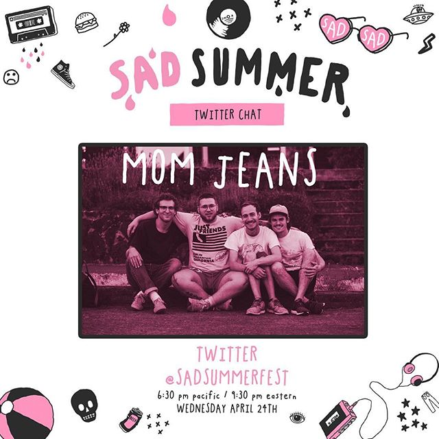 @momjeans_ca will be taking over the Sad Summer Twitter account tomorrow to chat about the upcoming tour! Do you have any questions for the guys?! Comment below!