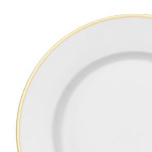 Ivory w Gold Rim Dinner Plate.jpg
