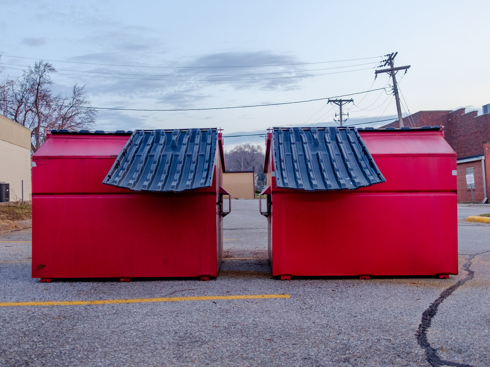 Dumpster Twins in Red