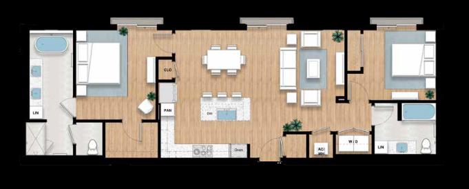 The Rosalyne - 2 bed, 2 bath | 1,314 sq.ft.
