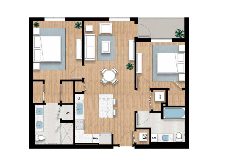 The Winslow - 2 bed, 2 bath | 1,149 sq.ft.