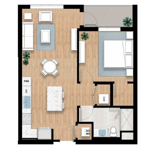 The Perry - 1 bed, 1 bath | 833 sq.ft.