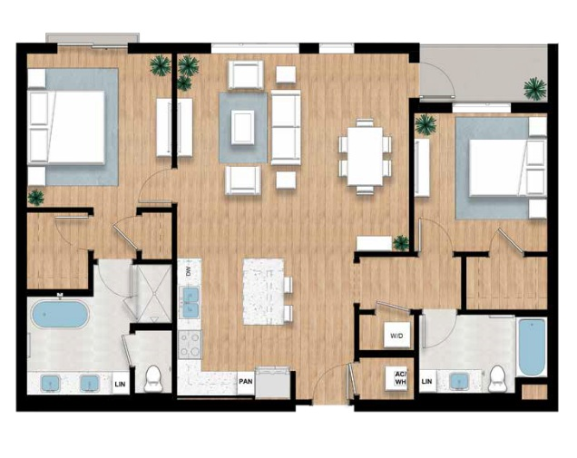 The Higel - 2 bed, 2 bath | 1,403 sq.ft