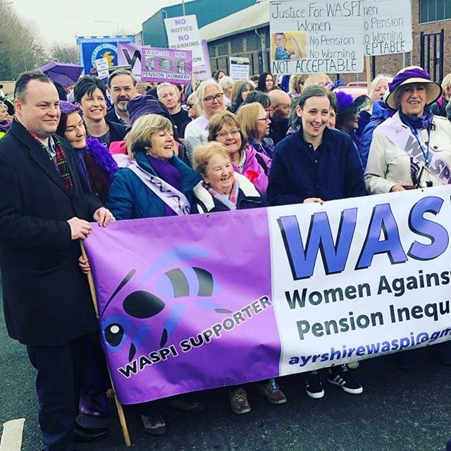 Amazing turnout at the Glasgow #WASPI March on Saturday.