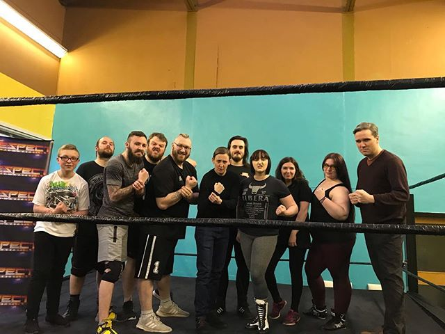 Getting ready to chokeslam austerity at Respect Pro Wrestling in Lochwinnoch tonight. Thank you to Robert for inviting me and Tom Arthur MSP along.