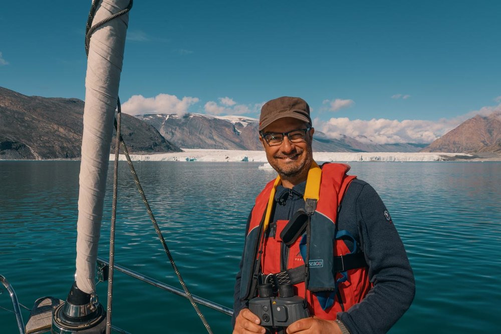 Co-Founder Michele D'Agostino on a sailing expedition to Greenland