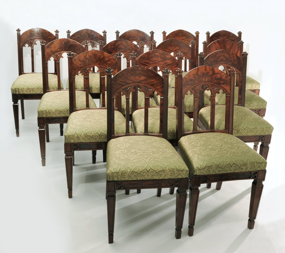 177 Gothic Chairs-14.jpg ... & SET OF FOURTEEN GOTHIC DINING CHAIRS u2014 Associated Artists