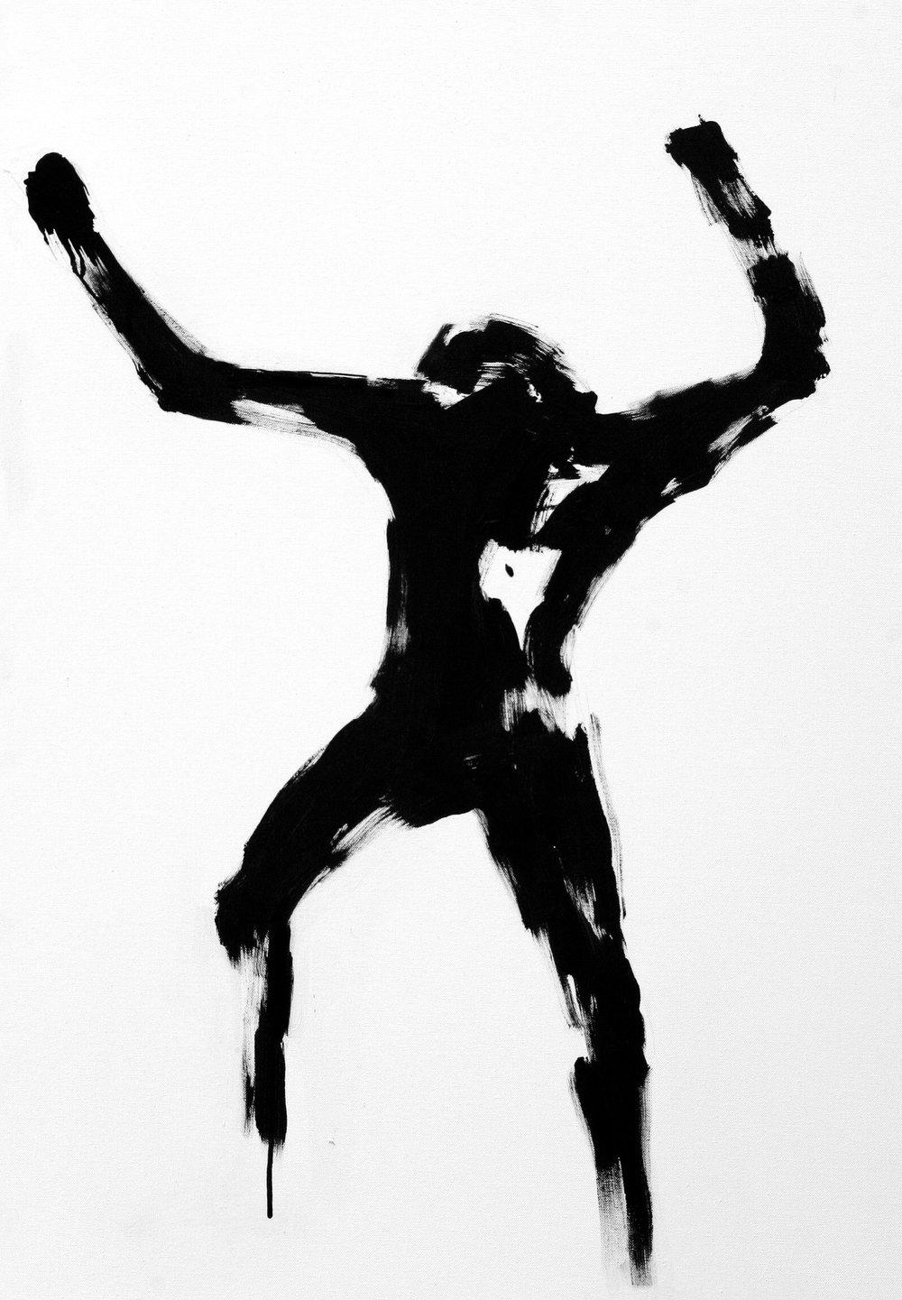 Untitled  80cm x 100cm Acrylic on canvas