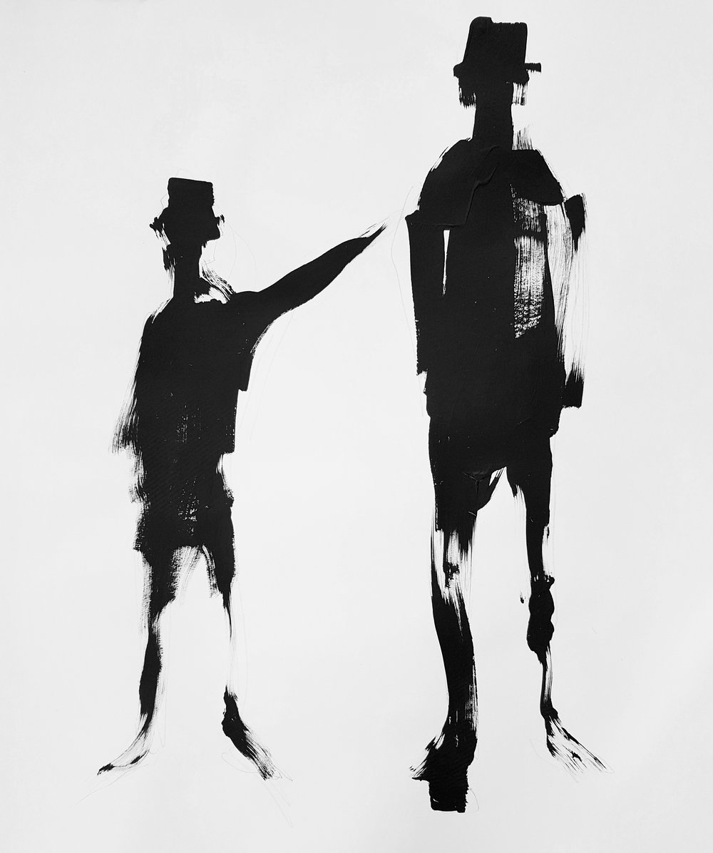 Untitled  90cm x 100cm Acrylic on canvas