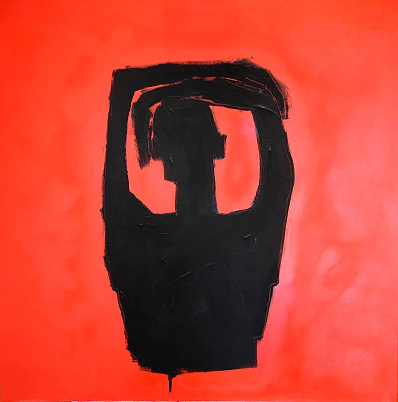 Untitled  100cm x 100cm Acrylic on canvas