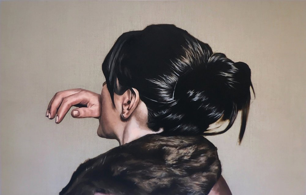 Mother!  2017  oil on linen  32 X 50 inches    Enquiry