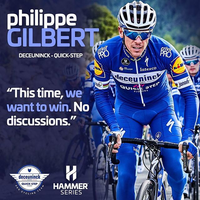 If you are as eager to take on this Monday as @philippegilbertofficial and @deceuninck_quickstepteam are to fight for glory in @hammerstavanger, you're in for a great week!  #MondayMotivation #HammerSeries #HammerStavanger #Procycling #cycling #bikelife #allout #roadcycling - 📸 Deceuninck – Quick-Step/Sigfrid Eggers.