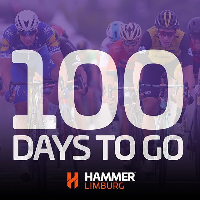 Today, there are only 100 days to go until the racing starts in @HammerLimburg! 🚴‍♂️🔨 Make sure to reserve the dates June 7-9 this year!  #HammerSeries #HammerLimburg #procycling #cycling #cycle #bikelife #bicycle #bike #roadbike #ciclismo #cyclinglife #cyclist #velo #ride #motivation #life #love #fitness #fun #instagood